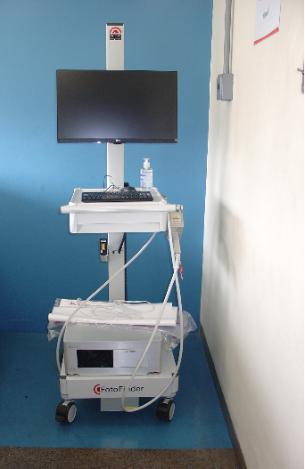 Equipamento CellVizio, que faz parte da área assistencial do ICESP (Foto: Arquivo da Gerência de Projetos).